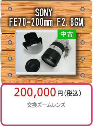 SONY FE70-200mm F2.8GM